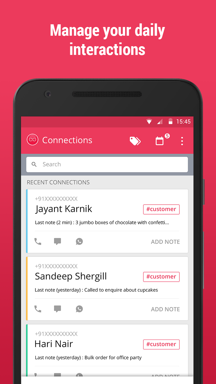 Connections: Contact notes screenshot #1