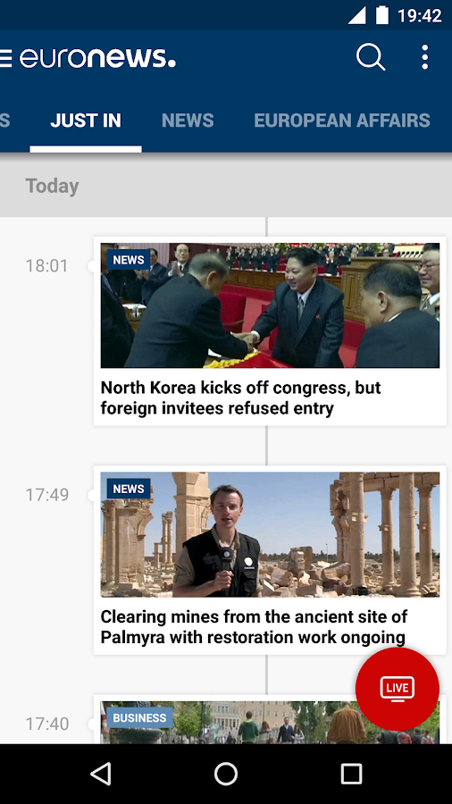 Euronews- screenshot