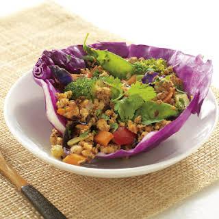 Spicy Chicken Cabbage Wraps.