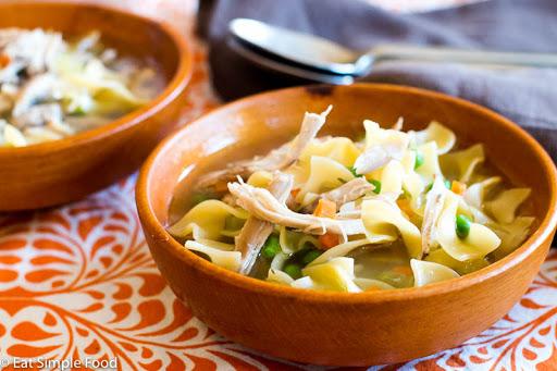 Chicken Soup w/ Egg Noodles