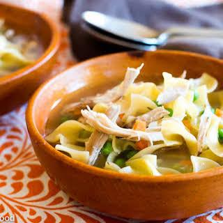 Chicken Soup w/ Egg Noodles.