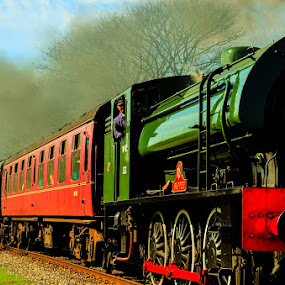 by Jo Darlington - Transportation Trains