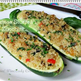 Quinoa Stuffed Zucchini #MeatlessMonday