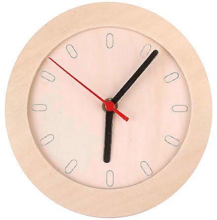 Klocka med träram 15cm plywood