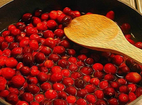 After a few minutes the cranberries will begin to pop open, and thicken the...