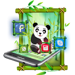 Cute Panda 2d theme Icon