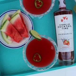 Strawberry-Watermelon Jalapeño Martini.