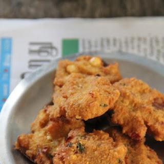 Masal Vadai ~ Deep-fried spiced-up Channa Dal Patties.