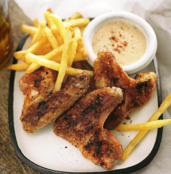 Dry Rubbed Chicken Wings With Remoulade Dipping Sa Recipe