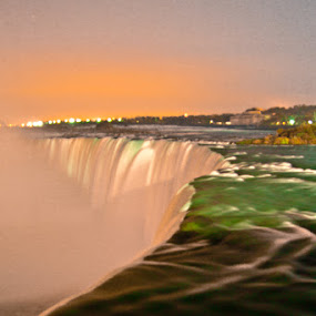 Midnight at Niagra by Steve Weston - Landscapes Waterscapes ( water, waterfall, night )