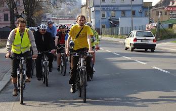 Photo: V čele Tomáš Kuncíř a Pavel Matějka - Cyklisté Liberecka  Autor: Sylva Švihelová
