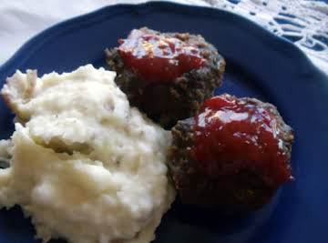 "Meatloaf miniatures from ""taste of home winning recipes cookbook"""