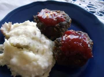 "Meatloaf miniatures from ""taste of home winning recipes cookbook"""