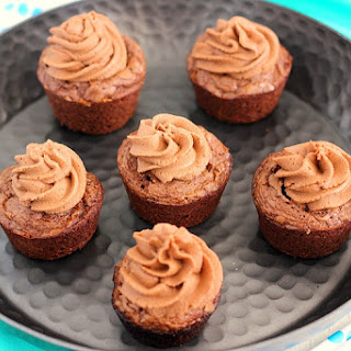 Brownie Bites with Nutella Frosting