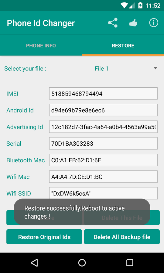 Device Id IMEI Changer Xposed- screenshot