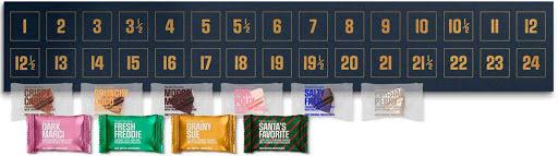 blå - chokladkalender för 2 personer 2020 - Simply Chocolate