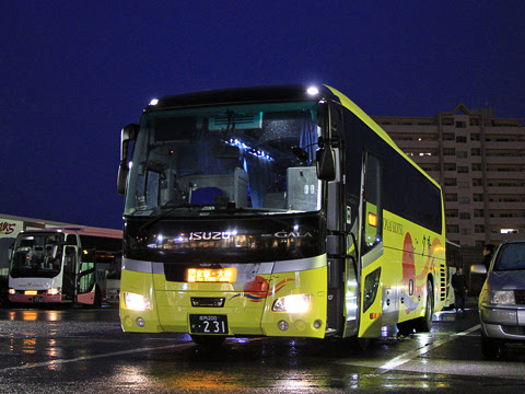 庄内交通「夕陽号」京都・大阪線 ・231 草津パーキングエリアにて