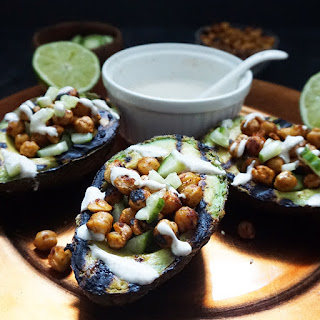 Grilled Avocados With Spiced Chickpeas