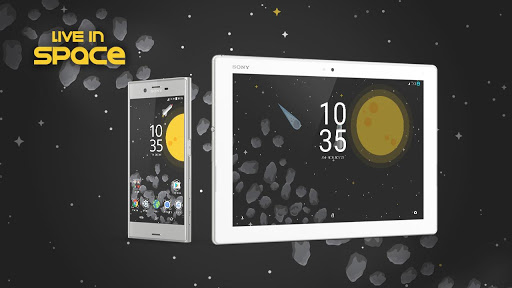 XPERIA™ Live in Space Theme app for Android screenshot