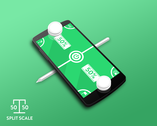 Split Scale 50 50 - scale app