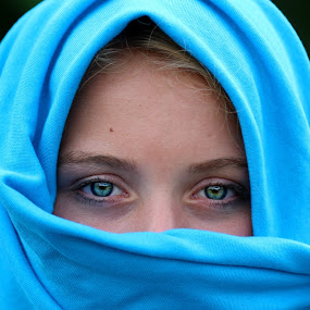 by Cindy Walker - Novices Only Portraits & People ( girl, scarf, portrait,  )