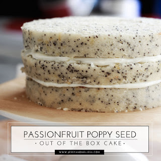 Passionfruit Poppy Seed Out of the Box Cake.