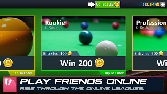 Snooker Stars – 3D Online Sports Game App Latest Version Download For Android and iPhone 6