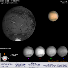 Photo: Last week's Mars in poor conditions.  I'm off to try again RIGHT NOW!