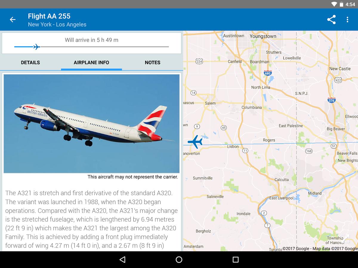 The flight tracker free screenshot