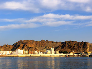 Photo: Muscat - Mutrah corniche, view towards the port
