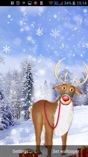聖誕馴鹿動態壁紙
