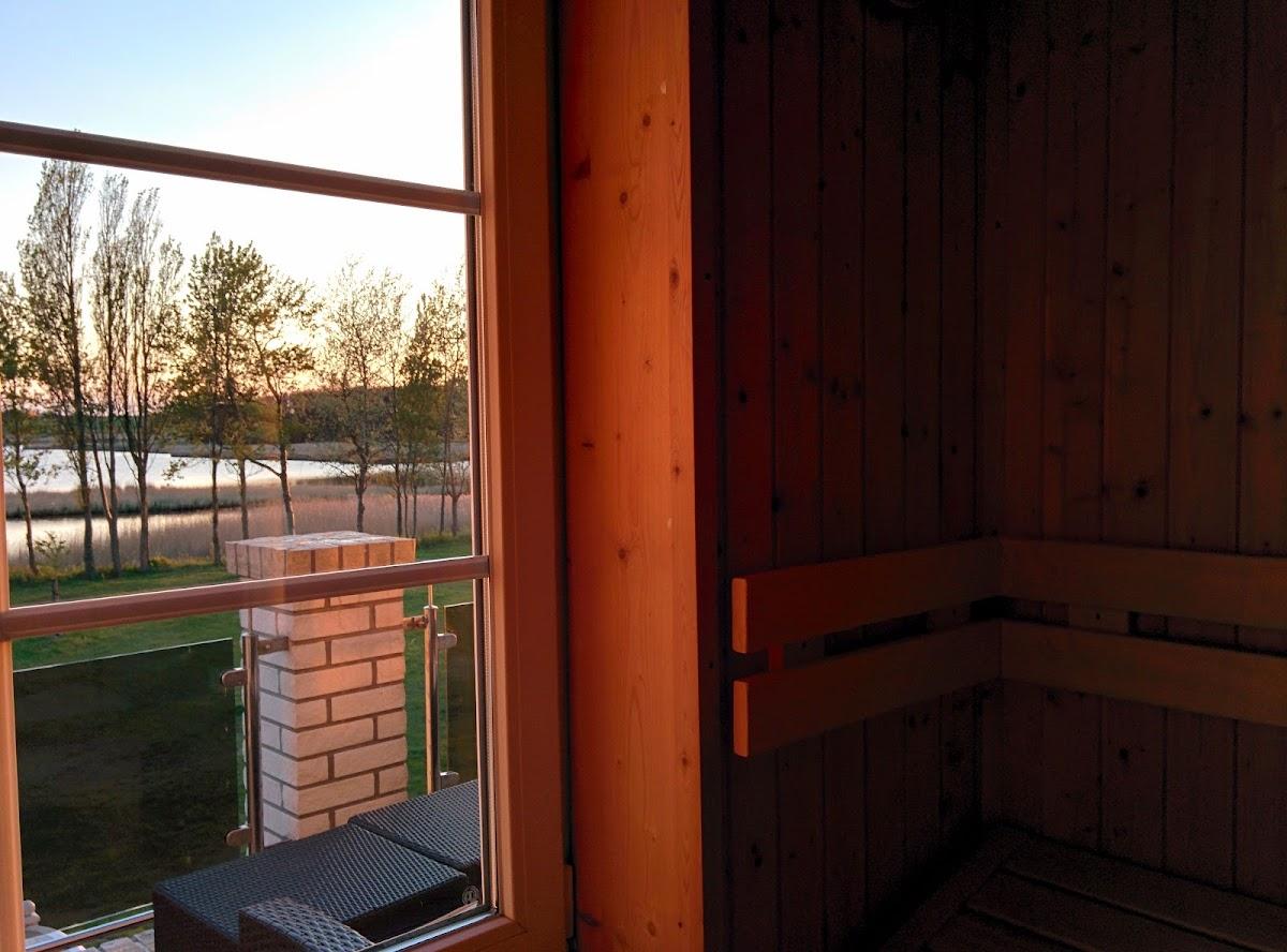 Sauna-Blick