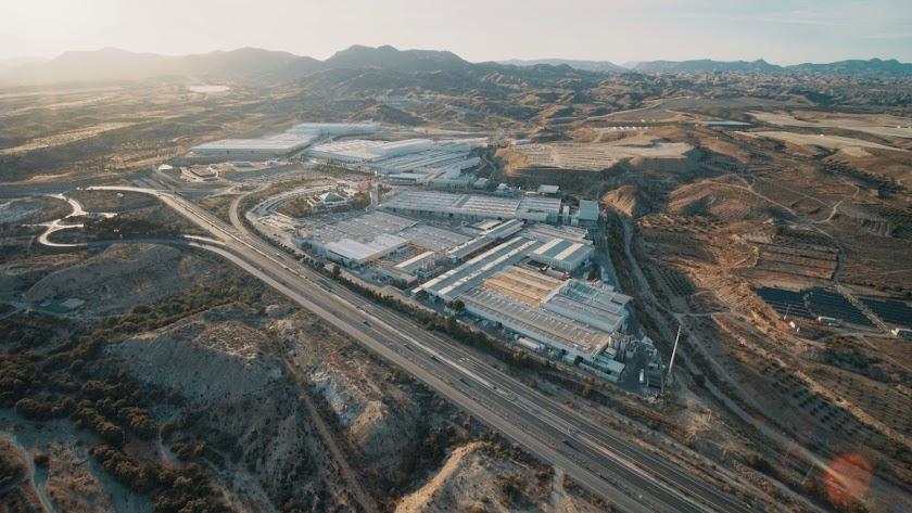 Parque Industrial de Cosentino, situado en el municipio de Cantoria.