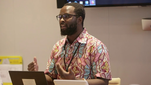 Sabelo Mhlambi,  founder of the Bhala smart keyboard.