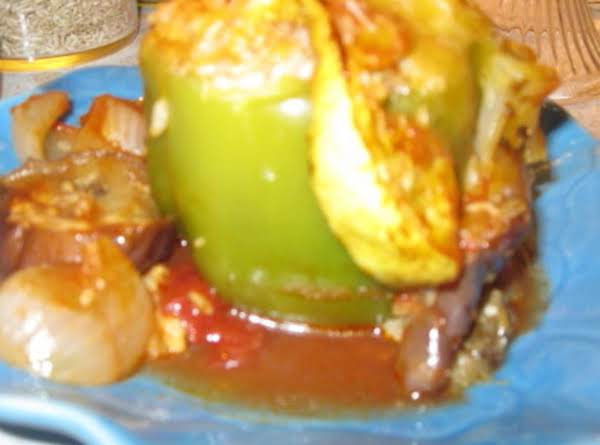 Stuffed Green Peppers Without Meat! Recipe