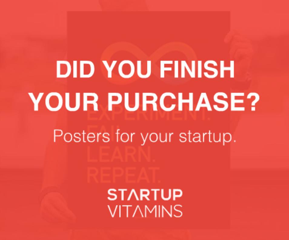 ejemplo anuncio retargeting Startup Vitamins