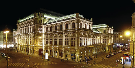 Arty experience: The State Opera house (Staatsoper) is seen before the lights were switched off for Earth Hour in Vienna, Austria. Picture: REUTERS