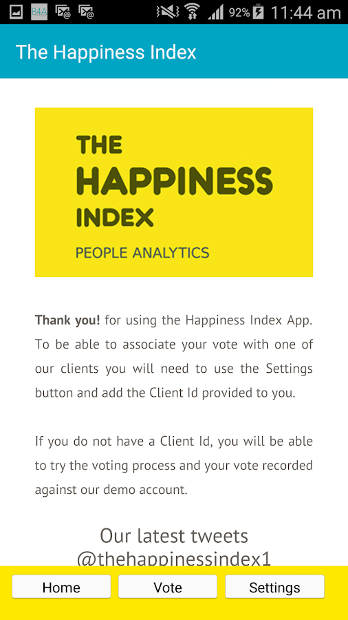 The Happiness Index- screenshot