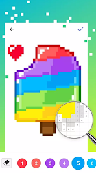 UNICORN - Color By Number & Pixel Art Coloring APK screenshot thumbnail 7