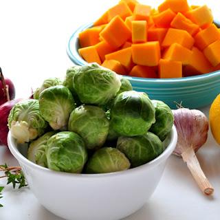 Warm Quinoa and Roasted Vegetable Salad.