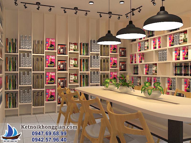 thiết kế phòng đọc sách diện tích nhỏ