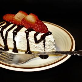 MMM Cheese Cake by RichandCheryl Shaffer - Food & Drink Candy & Dessert ( #yummy, #chocolate, #cheesecake, #strawberries, #dessert )