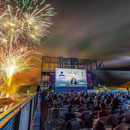 firework by Miroslav Šlafhauzer - Uncategorized All Uncategorized ( sky, night photography, firework, festival, people )
