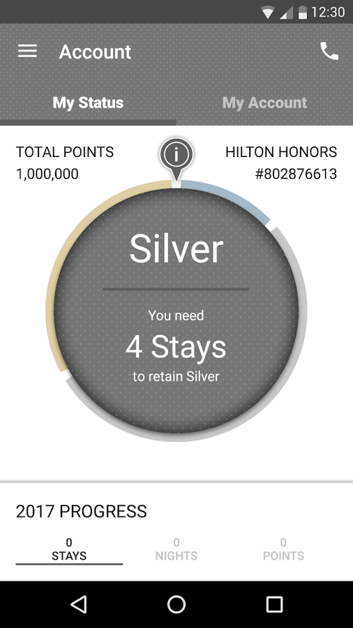 Hilton Honors- screenshot