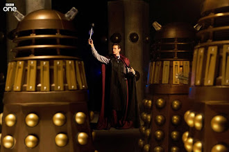 Photo: The Daleks confront their nemesis in this new image from the Doctor Who Christmas Special 2013, The Time of the Doctor.