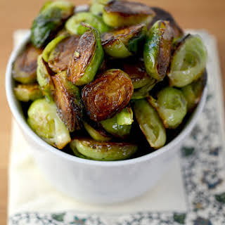 Balsamic Honey Roasted Brussels Sprouts.
