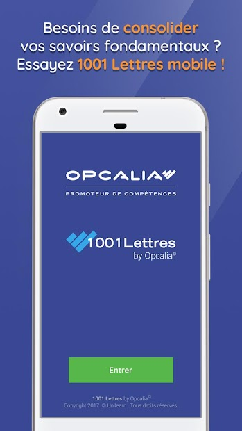 1001 Lettres by Opcalia Android App Screenshot