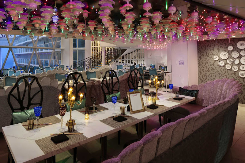 For a small surcharge, head to Wonderland on Harmony of the Seas for a new post-modern style of cooking and categorized by theme rather than course.