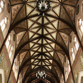 Cathedral Vault by Carl VanderWouden - Buildings & Architecture Places of Worship ( colour, catholic, gothic, church, art, cathedral )