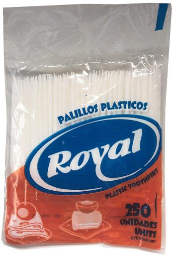 palillos royal plasticos 250und
